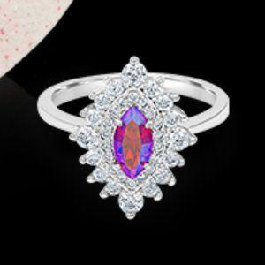 Fragrant Jewels Santa Baby Silver Ring NWOT 10
